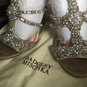 Badgley Mischka sparkly heels